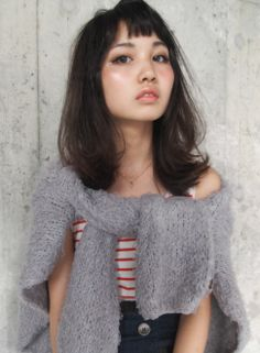 外国人風 ★ Bitter choco 【LOAVE OMOTESANDO】 http://beautynavi.woman.excite.co.jp/salon/27403?pint ≪外国人風・ミディアム・ヘアスタイル・medium・hairstyle・髪形・髪型・セミロング≫