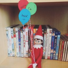 Elf On The Shelf | 2016 | Day 1: Loki's returned with a bunch of balloons #OurElfOnTheShelf