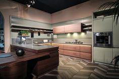 Timber kitchen inspiration from Milan Design Week 2019 #CaesarstoneSA. Interesting floor detail yes?