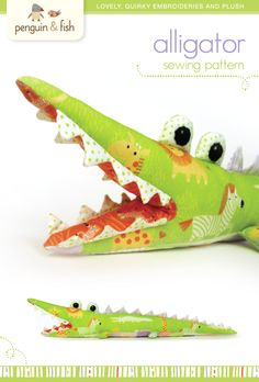 gator stuffed animal pattern. Nx