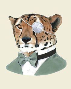 Etsy の Cheetah art print 8x10 by berkleyillustration