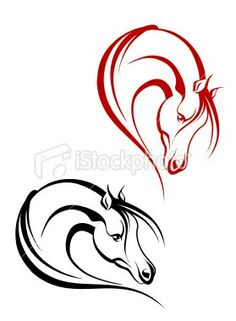 Horse tattoos google search. This would be cool if there was another horse to.make a heart