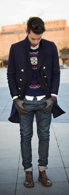 Like the gloves sweater and shirt. Jacket is weird