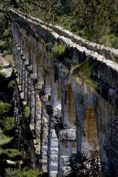 Tarragona's Ancient Aqueduct, Catalonia, Spain