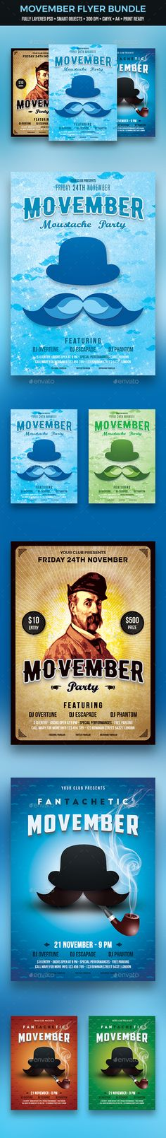 Movember Flyer Bundle