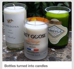 DIY Make A Candle Out Of A Glass Bottle. Use As A Nice Gift Or A Cute Decoration!