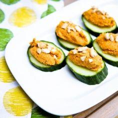 Carrot Cashew Pâté Cucumber Canapé