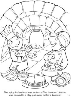 Dover Sampler - Chef Lorenzo's Foods Around the World Coloring Book