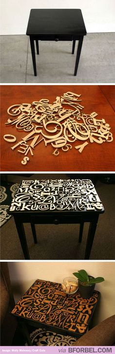 Great Way To Decorate A Plain Table…