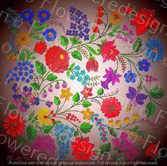 024. Digital flower motif hand embroidery motif