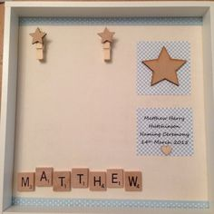 Christening newborn frame baby boy girl by ButtonNButterflies