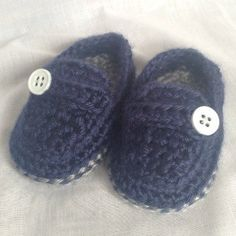 Crochet Casual Loafers Baby Shoes Boy  Baby by HookYarnAndHooper
