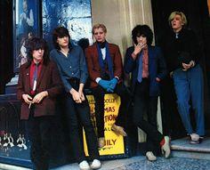 Japan | band | Richard Barbieri |Steve Jansen | Mick Karn | Rob Dean | David Sylvian | Covent Garden | London | 1980 | Unknown photographer