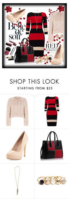 """""""Faux fur"""" by ina-kis ❤ liked on Polyvore featuring RED Valentino, Phase Eight, Charles by Charles David, Roberto Cavalli, GUESS and Michael Kors"""