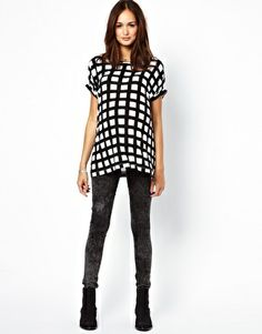 Image 4 ofASOS Maternity Exclusive T-Shirt in Check
