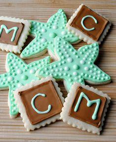 beach themed cookies | So, How's It Taste? » Starfish & Initial Sugar Cookies
