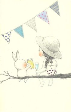 On hot summer day by Corniglio on Grafolio- 더운 날에는(On hot summer day) by 꼬닐리오 on Grafolio Cool cool ~ Cool drinks ~ - Korean Illustration, Funny Illustration, Graphic Design Illustration, Doodle Drawings, Easy Drawings, Artists For Kids, Cute Doodles, Baby Art, Cute Cartoon Wallpapers