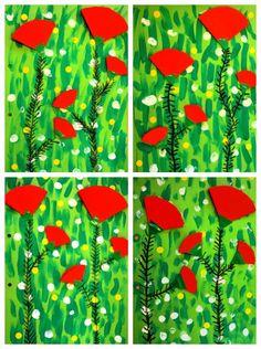 kevät/kesä Nail Polish nail polish of july Summer Crafts, Summer Art, Fall Crafts, Remembrance Day Art, Spring Art Projects, 2nd Grade Art, Mothers Day Crafts, Preschool Art, Art Classroom