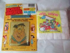 Vintage Lot of The Flintstones Wonder Whiskers Drawing Set Toy Napkins 1980'S   eBay
