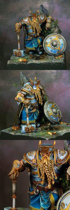 Figurine Warhammer, Warhammer 40k Miniatures, Reaper Miniatures, Fantasy Miniatures, Dungeons And Dragons Figures, Warhammer Fantasy, Warhammer Aos, Fantasy Dwarf, 3d Modelle
