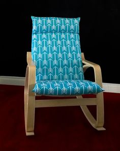 IKEA POÄNG Cushion Slipcover  Arrows Apache Blue by RockinCushions. Pack a punch with this bright turquoise print! Sure to brighten up any room, gender neutral too