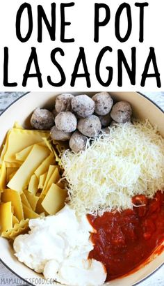 kids loved it!!!! LAZY LASAGNA - ONE POT LASAGNA #lasagna #onepot #lazylasagna #italianfood