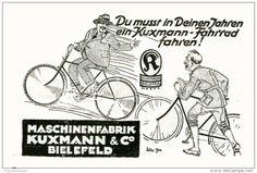 Original-Werbung/Inserat/ Anzeige 1928 - FAHRRÄDER / MASCHINENFABRIK KUXMANN BIELEFELD - ca.90 x 50 mm