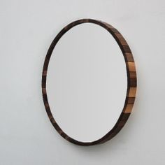 Mirror with beautiful wood.