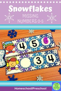 These Snowflake Missing Numbers are the perfect addition for learning in your Math Centers. These activities are engaging with their challenging content! Your year old kids will enjoy learning about Snowflake and numbers with this time saving resource. Numbers Preschool, Preschool Math, Preschool Winter, Morning Activities, Number Activities, Dramatic Play, Elementary Math, Literacy Centers, Snowflakes