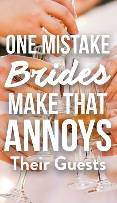 The One Mistake Brides Make That Always ANNOYS Wedding Guests! You want your guests to remember your wedding--in a good way. So be sure to skip these mistakes that really annoy them. Find out more at Do It Yourself Wedding, Plan Your Wedding, Diy Wedding, Wedding Events, Dream Wedding, Wedding Day, Wedding Hacks, Wedding Punch, Wedding Favors