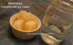 Monday Health & Wellness: Electrolyte Concentrate Ice Cubes (Quick and Easy Remedy)