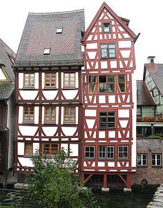 Ulm architecture, Germany hier overnachtten we vroeger als we naar oostenrijk reden