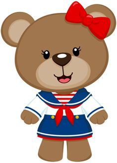 Ursos Teddy Bear Cartoon, Cute Teddy Bears, Cartoon Pics, Cute Cartoon, Sailor Theme, Cute Bear Drawings, Bear Clipart, Fiesta Decorations, Bear Theme