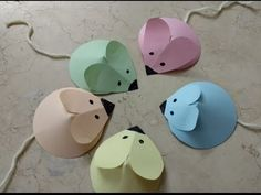 DIY Paper Crafts for Kids - How to Make Paper Mouse with your Kid + Tuto...