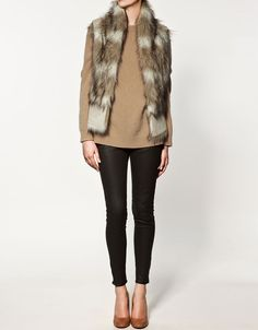 zara fur vest in use a lil too often lately
