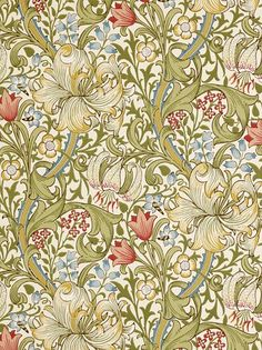 I köket: William Morris wallpaper GoldenLily