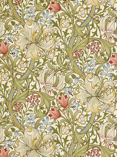 I köket: William Morris wallpaper GoldenLily