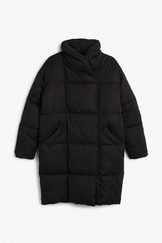 Monki Image 3 of Puff coat in Black