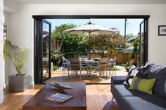 Consider the new glass doors that fold up, slide in and disappear. If a wide-open space is what you are after, check out companies that offer innovative new products perfect for indoor-outdoor living, like NanaWall. Choose from models that fold up accordion-style, slide into recessed wall pockets and more.