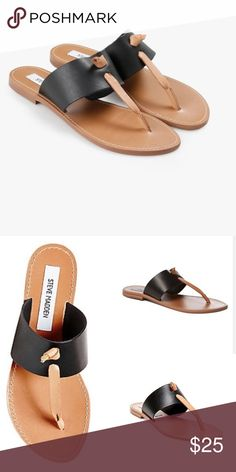 New! Olivia black/tan Steve Madden. Brand new. Lowest I'll go $16. :) run about a half a size small! Great price for such awesome shoes. Steve Madden Shoes Sandals