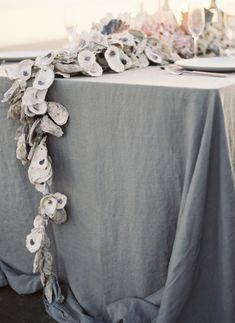 Oyster shell decor // Joy Thigpen for Once Wed