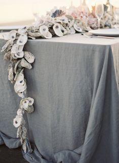 Oyster garland... Joy Thigpen styling