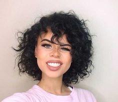 Frisés, Cheveux Courts Frange