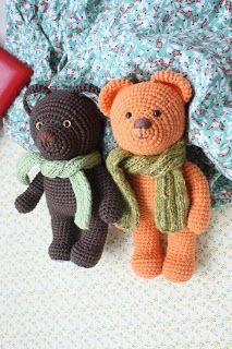 Amigurumi creations by Laura: New crocheted amigurumiTeddy Bears