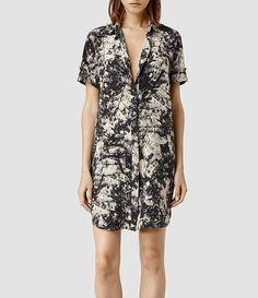 Womens Calla Shade Shirt Dress (Shade) - product_image_alt_text_1