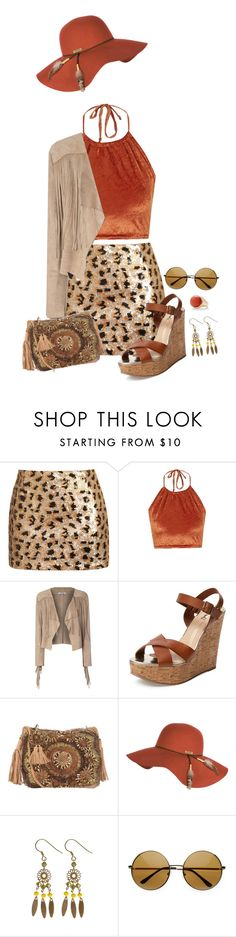 """Take Pictures Not Trophies"" by km-r7 ❤ liked on Polyvore featuring Glamorous, The Ragged Priest, Schutz, Antik Batik, Billabong, OSCAR Bijoux and Express"