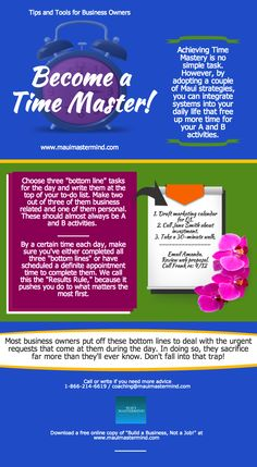 Know your bottom lines and become a Time Master! #mauimastermind #business #system #grow #scale #freedom #time #master #bottomline #results  www.mauimastermind.com
