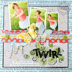 More Christy Tomlinson for Pink Paislee.  This is my style...lots of patterns mixed together!