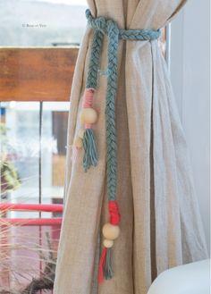 ROSE ET VERT: DIY - embrasse rideau