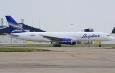 Yakutia Airlines, Russia -Boeing 757-200PCF freighter at Maastricht Aachen AP, the Netherlands - via PJ de Jong